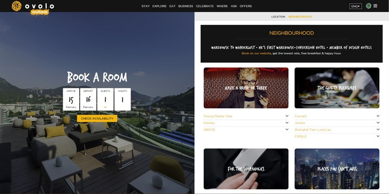 Ovolo Website Design